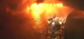 incendie entrepot los angeles port