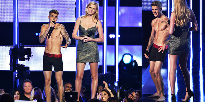justin bieber strip tease fashion rocks new york