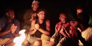 le woop gang feu de bois sketch au camping