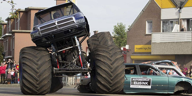 monster truck accident pays bas