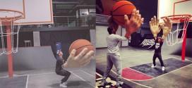 partie de basket mains geantes