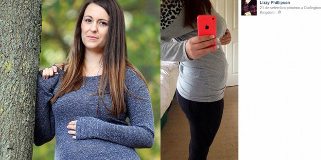 Lizzy Phillipson enceinte bebe