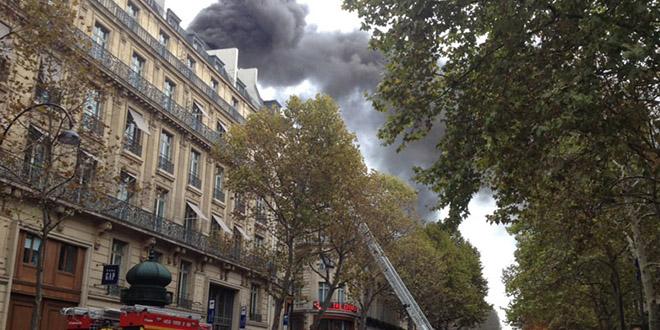 fumee incendie paris olympia capucines