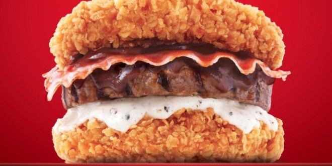 burger kfc zinger double down king