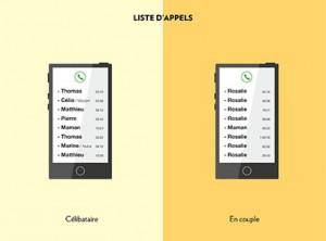 celib vs couple liste d'appel