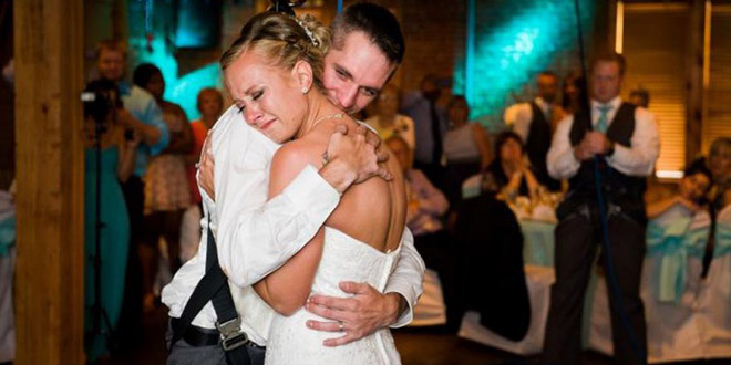danse mariage femme paralyse