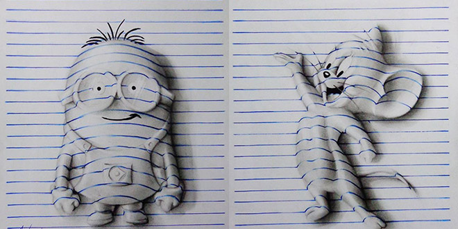 dessin 3d enfant 15 ans J Desenhos