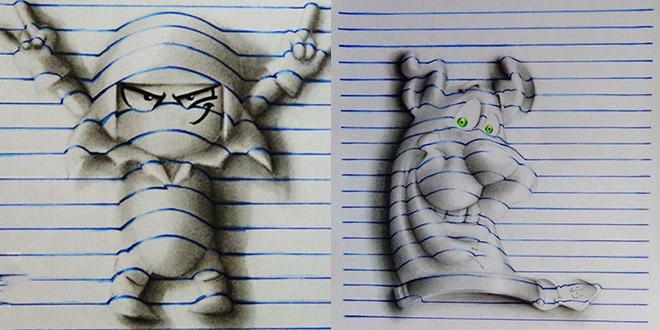 dessins en 3d ado 15 ans