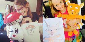 dessins peluches budsies enfants
