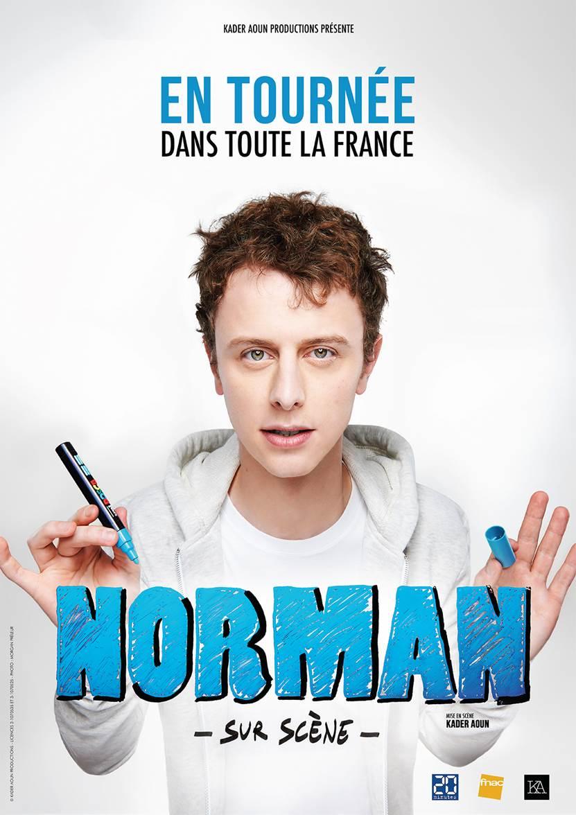 norman sur scène spectacle affiche