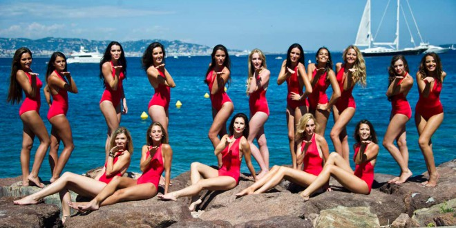 candidates miss france 2014 bikini rouges