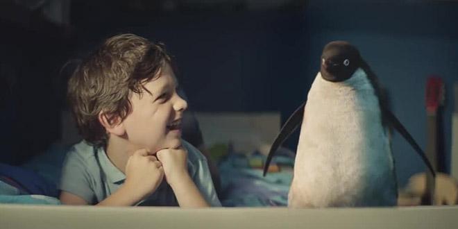monty pingouin pub noel