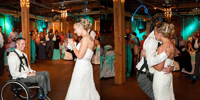 paralyse il danse avec sa femme mariage