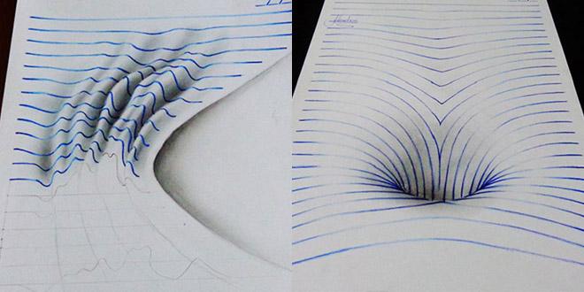 trous dessins 3d