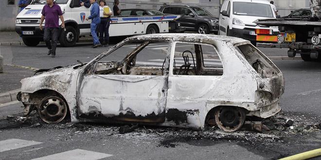 voiture brulee pyromane enfant herault