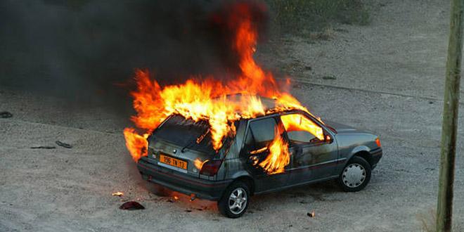 voiture brulee pyromane enfant
