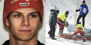 Andreas Wellinger chute fail