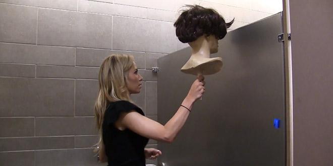 blague tete mannequin toilettes