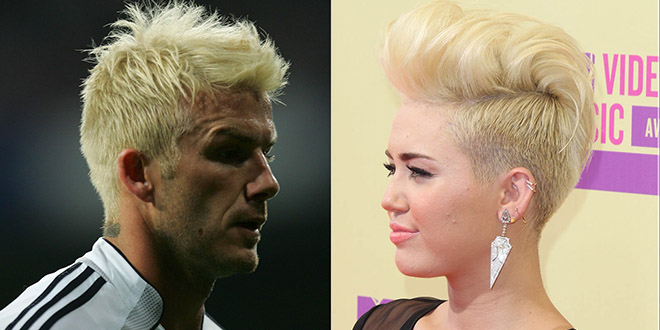 david beckham miley cyrus blond platine