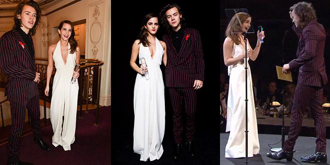 emma watson harry styles british fashion awards