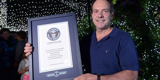 led australie illuminations record