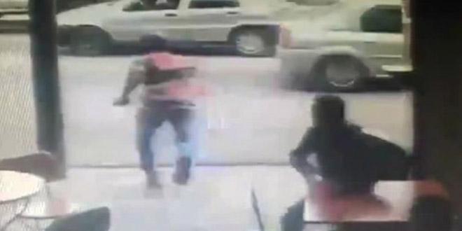 mexique video vol telephone percute par une voiture