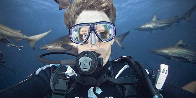 Aaron Gekoski selfie dangereux requin