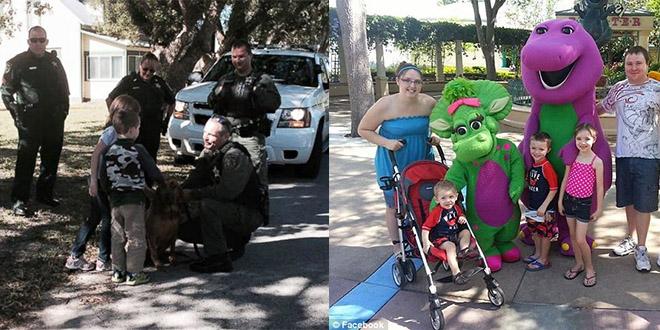 Glenn Buratti enfant anniversaire police