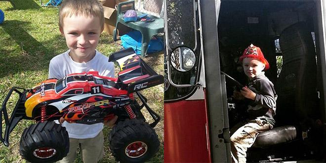 Glenn Buratti enfant anniversaire pompiers