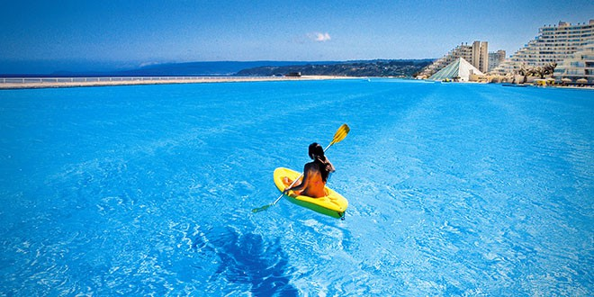 Incroyable non ce n 39 est pas la mer c 39 est bien mieux que a - La plus grande piscine du monde ...
