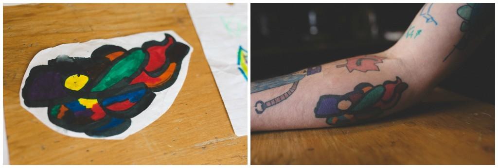 tatouage pere fils dessin