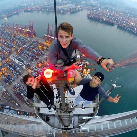 extreme selfie hauteur