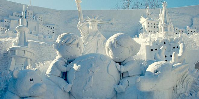 festival snow glace japon