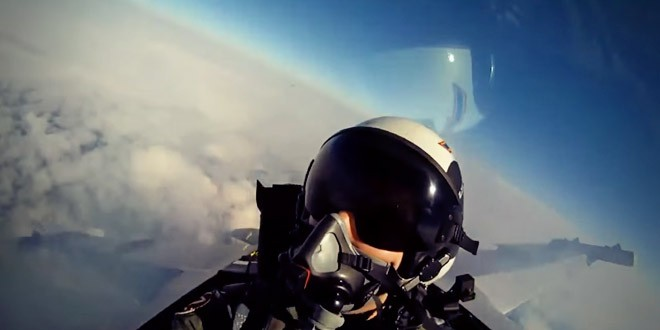 gopro avion de chasse pilote