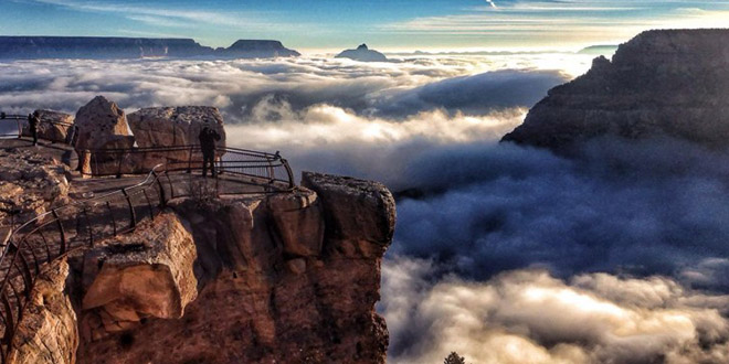 grand canyon mer nuages
