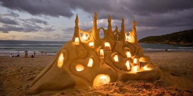 incroyable dessin sur sable
