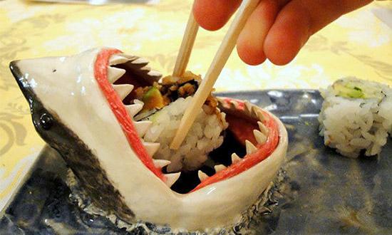 sauce sushis recipient requin