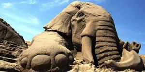 sculpture sable elephant
