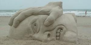 sculpture sable plage