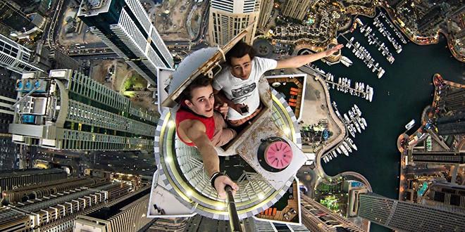 selfie hauteur gratte ciel vertige