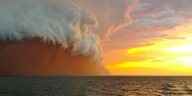 tempete sable australie