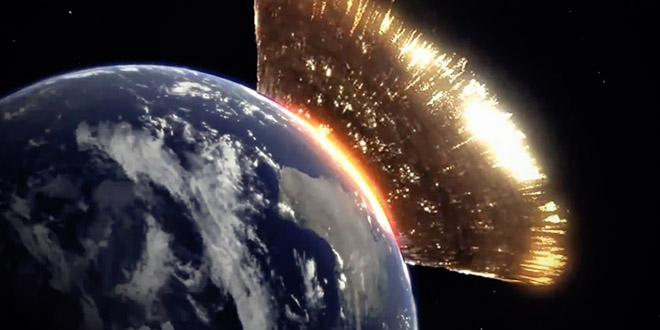 Discovery Channel simulation asteroide frappe la terre