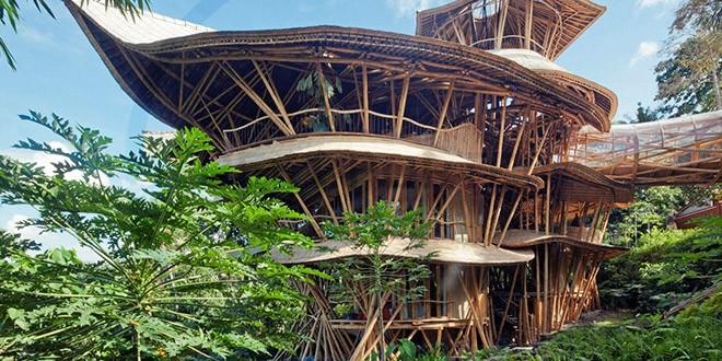 Elora Hardy ibuku bambou villa maison
