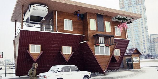 Krasnoyarsk maison a l'envers russie