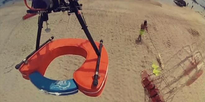 drone sauvetage concept plage chili