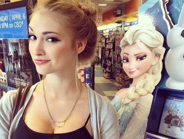 elsa la reine des neiges sosie anna faith