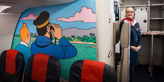 interieur avion rakham tintin