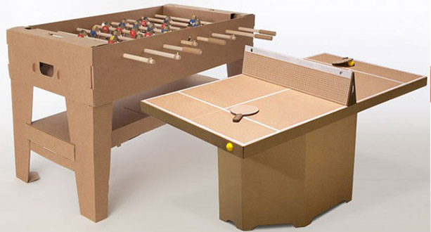 la mini table de ping pong en carton id ale pour le bureau whishlist. Black Bedroom Furniture Sets. Home Design Ideas