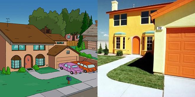 d couvrez la r plique de la maison des simpson dans la vraie vie. Black Bedroom Furniture Sets. Home Design Ideas