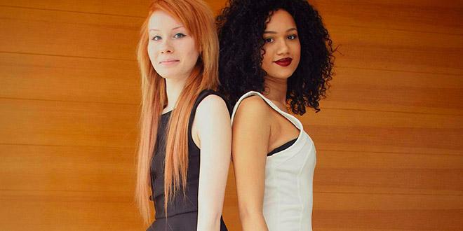 maria lucy jumelles noire blanche et rousse aylmer